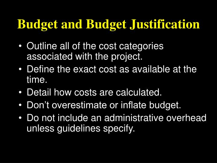 Budget and Budget Justification