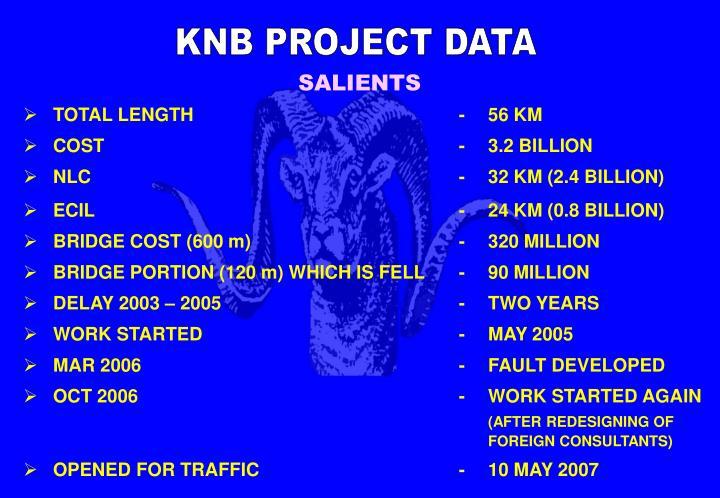 KNB PROJECT DATA
