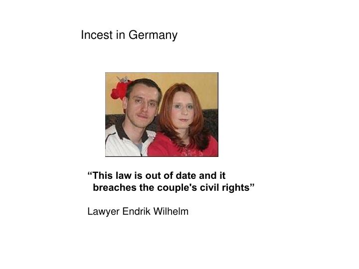 Incest in Germany