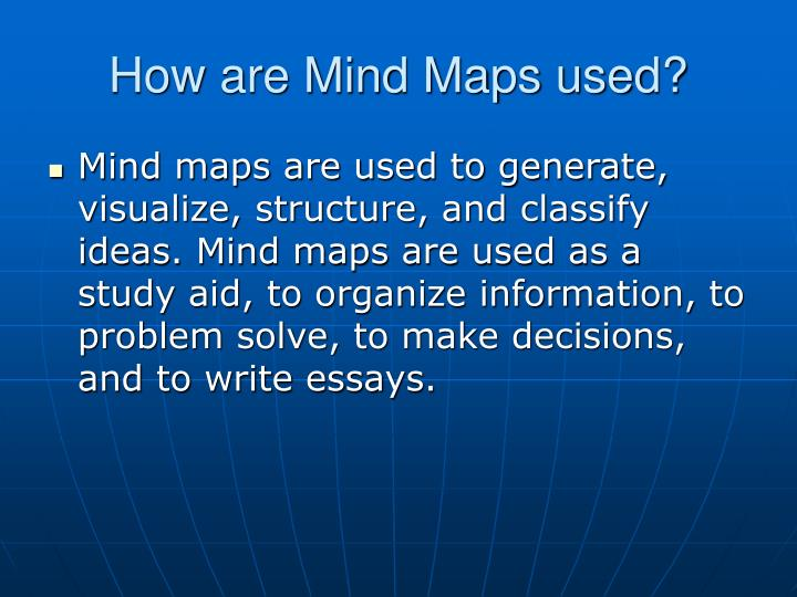 How are mind maps used