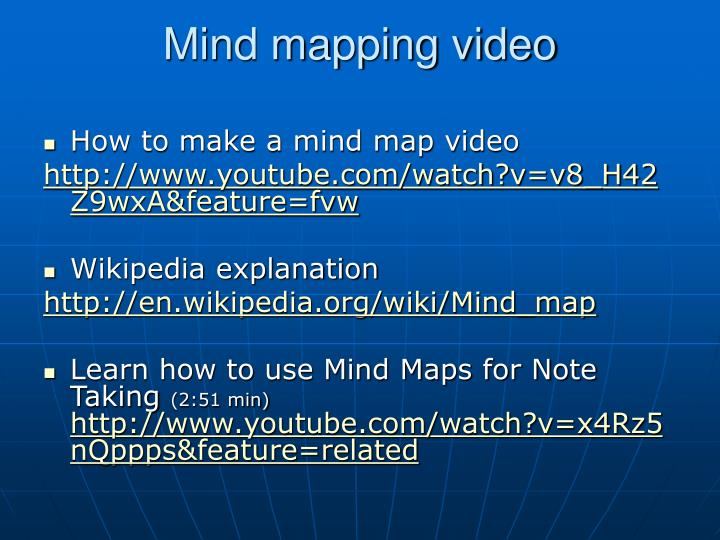 Mind mapping video