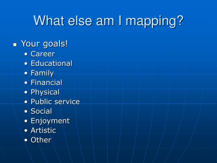 What else am I mapping?