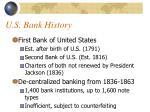 u s bank history