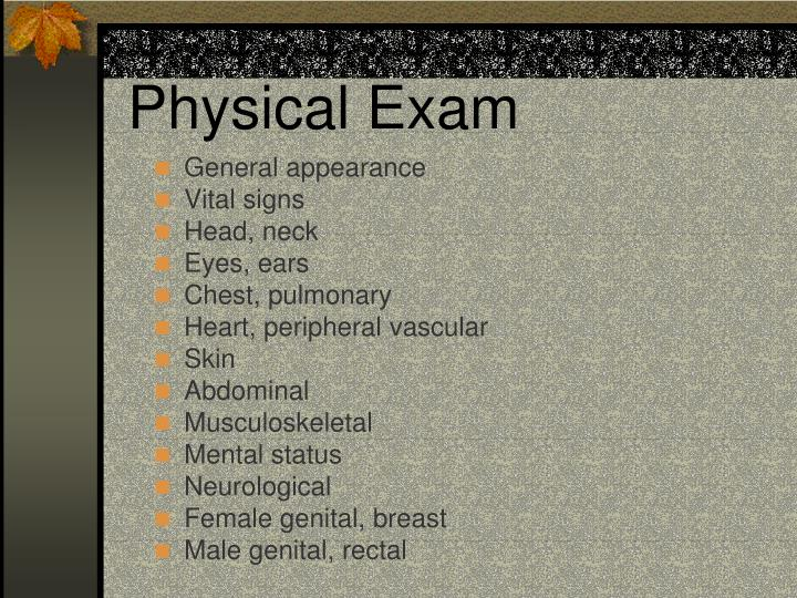 Physical Exam
