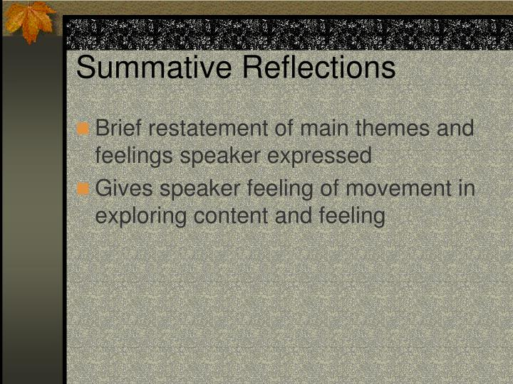 Summative Reflections