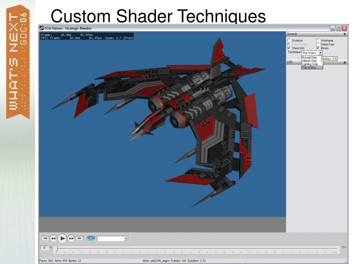 Custom Shader Techniques