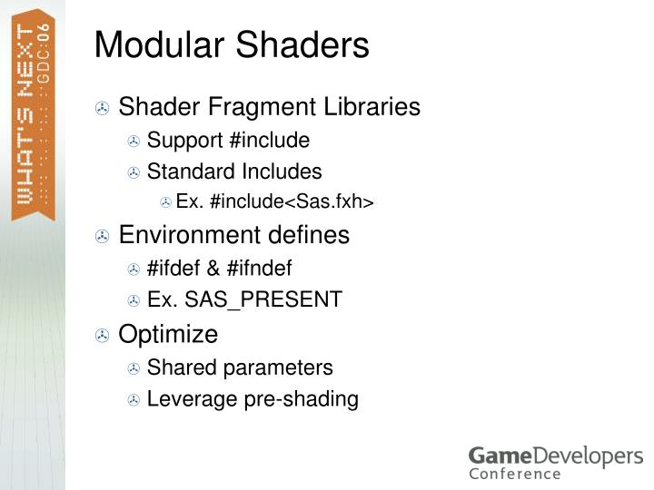 Modular Shaders