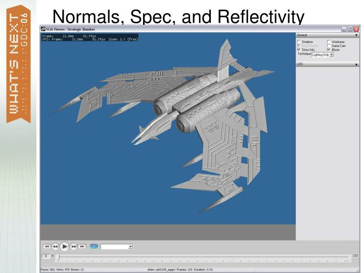 Normals, Spec, and Reflectivity