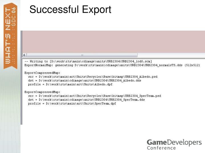 Successful Export