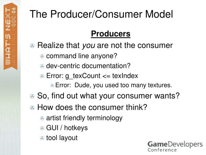 The Producer/Consumer Model