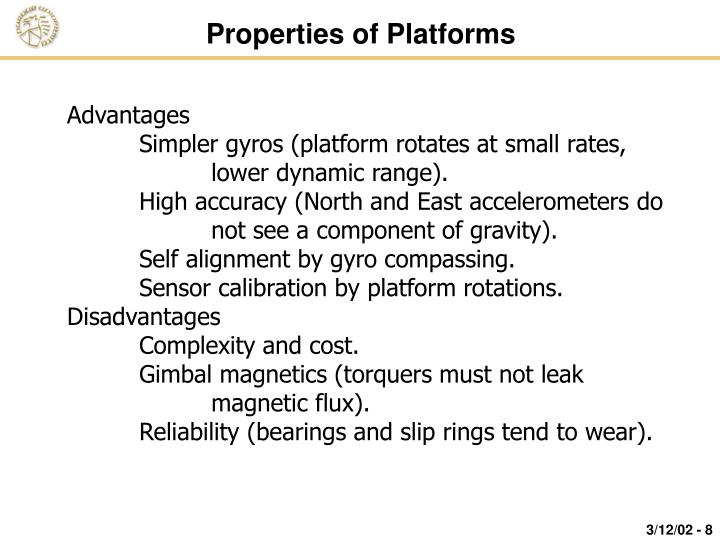 Properties of Platforms