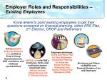employer roles and responsibilities existing employees