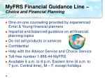 myfrs financial guidance line choice and financial planning
