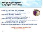 on going program employee workshops