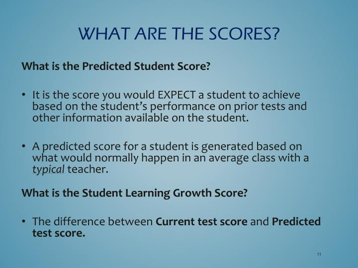 What are the scores?