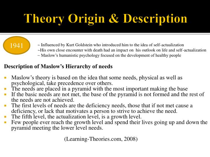 Theory origin description