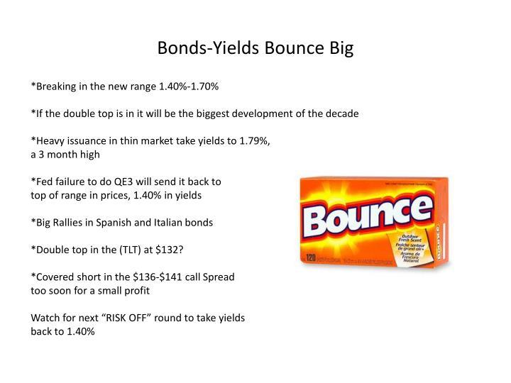 Bonds-Yields Bounce Big