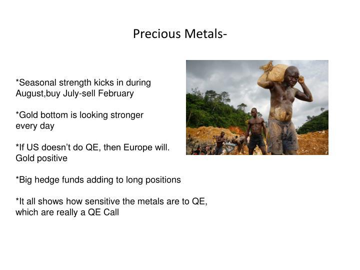 Precious Metals-