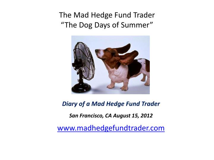 The mad hedge fund trader the dog days of summer