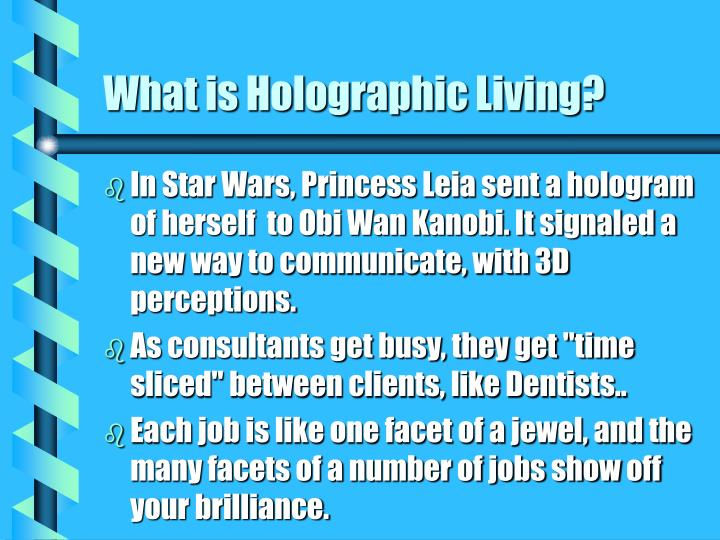 What is holographic living