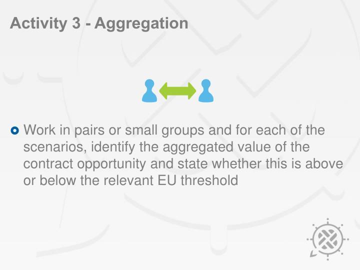 Activity 3 - Aggregation