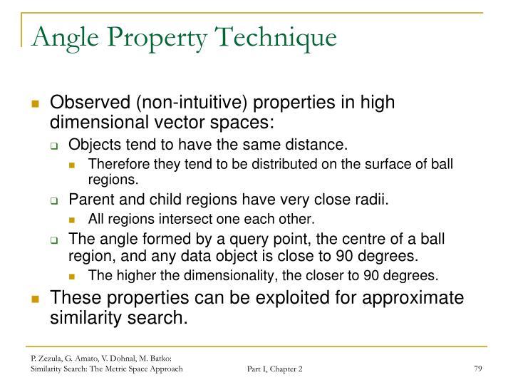 Angle Property Technique