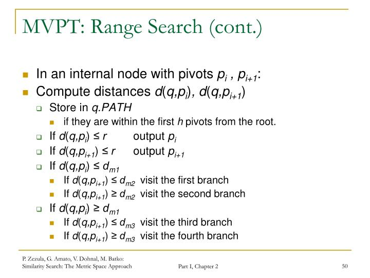 MVPT: Range Search (cont.)