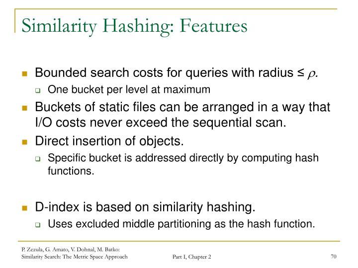 Similarity Hashing: Features