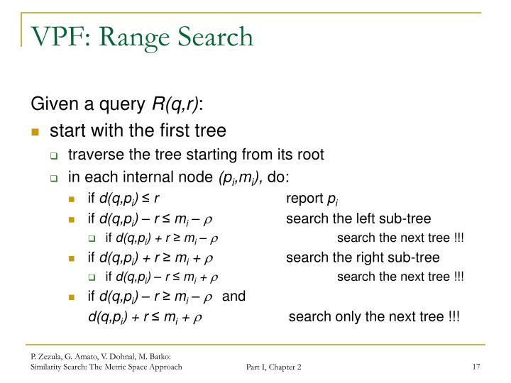 VPF: Range Search