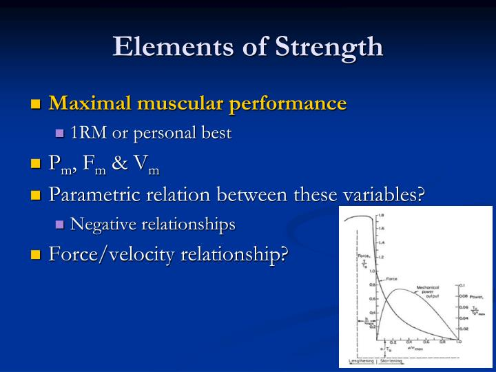 Elements of strength