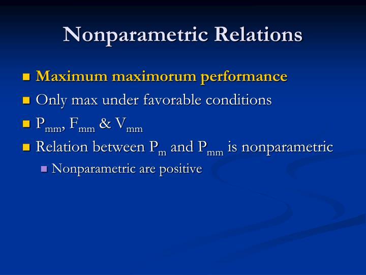 Nonparametric Relations
