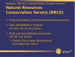 buckeye frs no 1 rehabilitation project partners natural resources conservation service nrcs