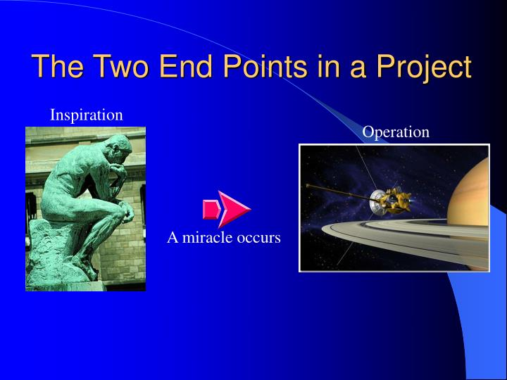 The two end points in a project