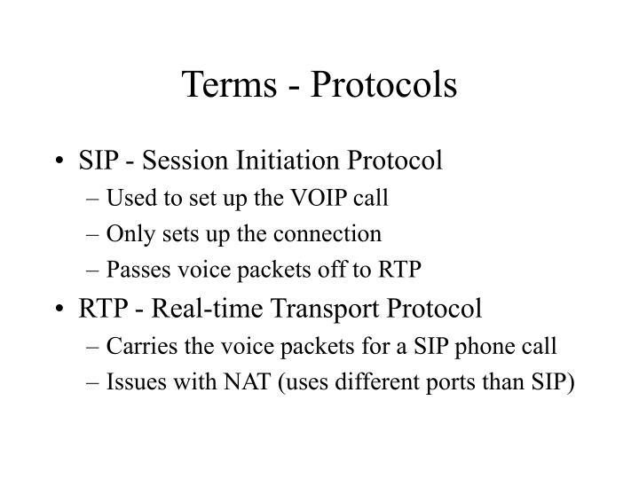 Terms - Protocols