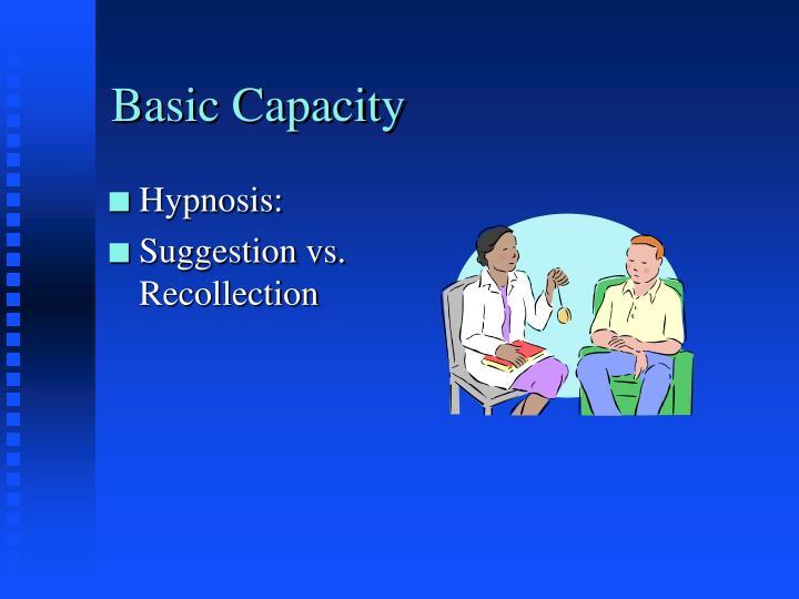 Basic Capacity