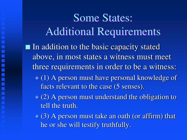 Some States: