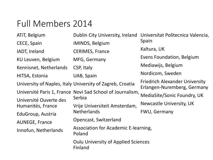 Full Members 2014