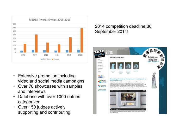 2014 competition deadline 30 September 2014!