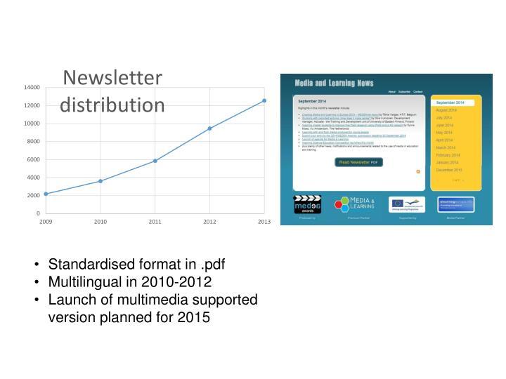 Standardised format in .pdf