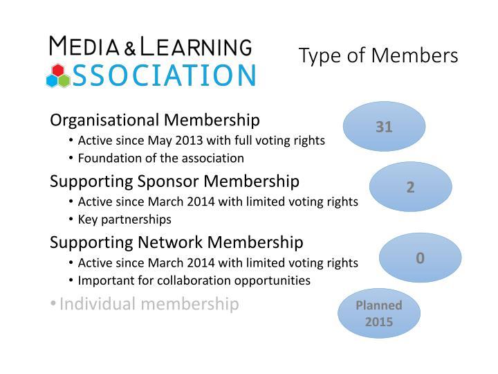 Type of Members