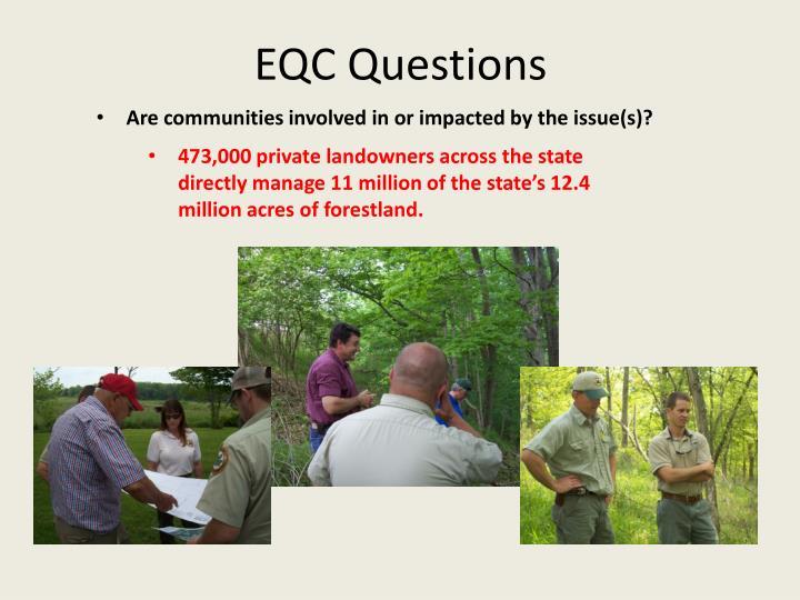 EQC Questions