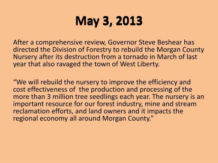 May 3, 2013