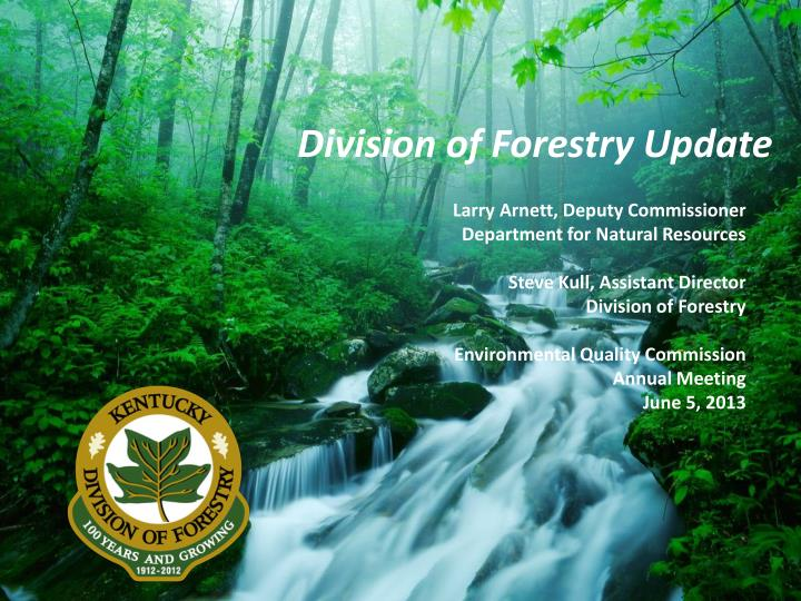 Division of Forestry Update