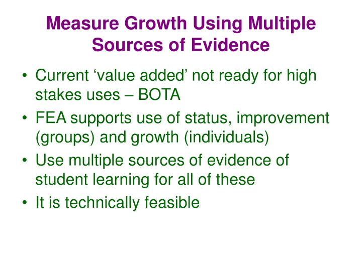 Measure Growth Using Multiple