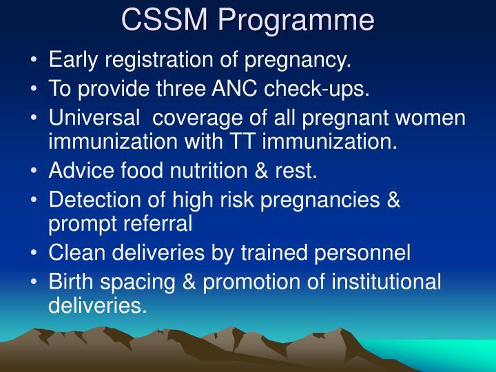 CSSM Programme