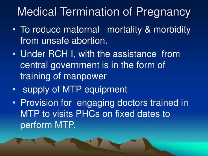 Medical Termination of Pregnancy