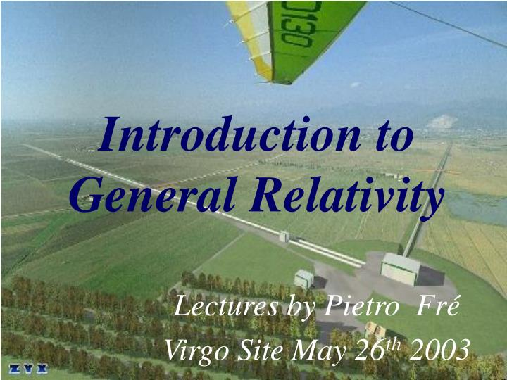 introduction to general relativity n.