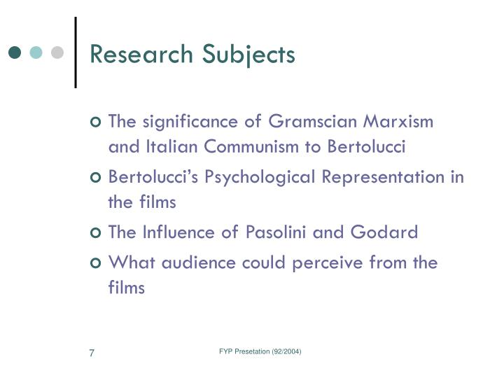 Research Subjects