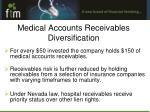 medical accounts receivables diversification