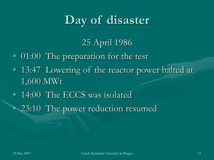 Day of disaster